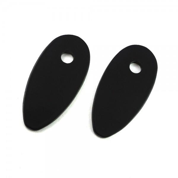 IRON OPTICS Blinker Montageplatten Schwarz für mini Blinker D 5 mm