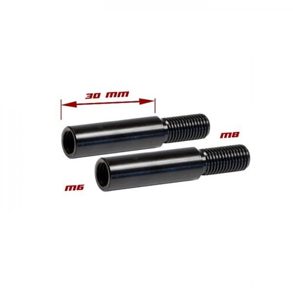 Blinkerverlängerung Alu 30 mm, M6 auf M8, (1,25),