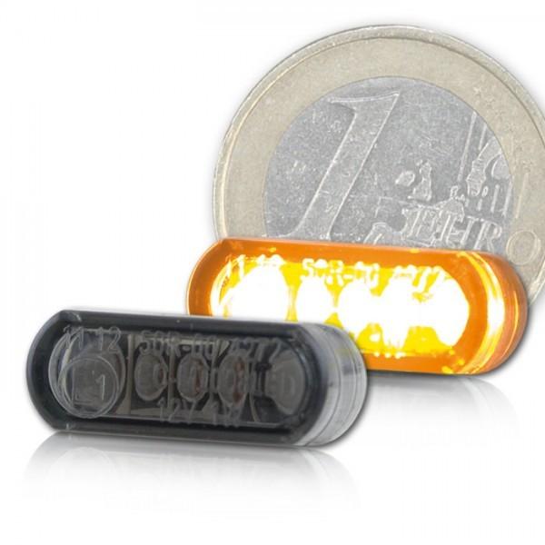 LED-Einbaublinker, getönt, Paar, Maße: B 21,5 x H 8,5 x T 11,5 mm, E-geprüft