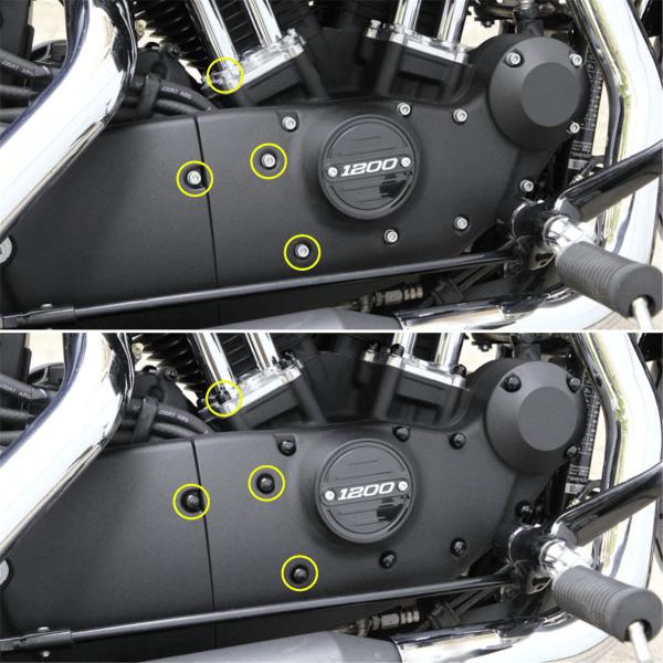 Abdeckkappen PVC Weich Set für Zoll- Motorschrauben HD Sportster Modelle
