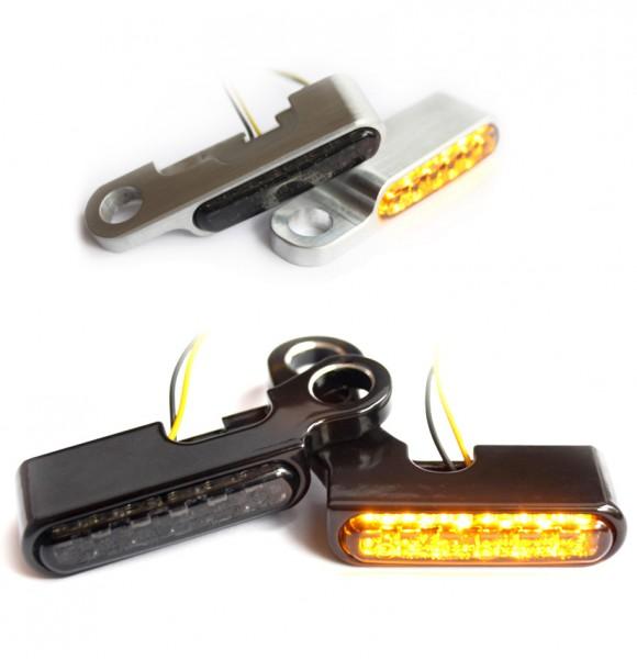 IOMP Lenkerarmaturen LED Blinker / 40x8 / für HD Modelle