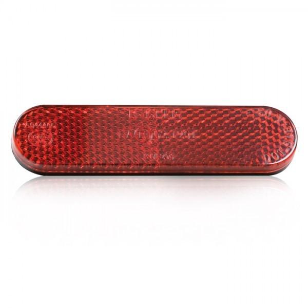Reflektor – Rückstrahler | abgerundet | 96 x 24 x 8 mm | rot