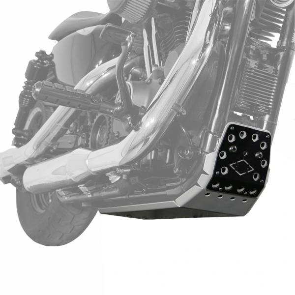 Motorschutz Unterfahrschutz Bugspoiler silber/schwarz für Harley Davidson Sportster Modelle ab 2004