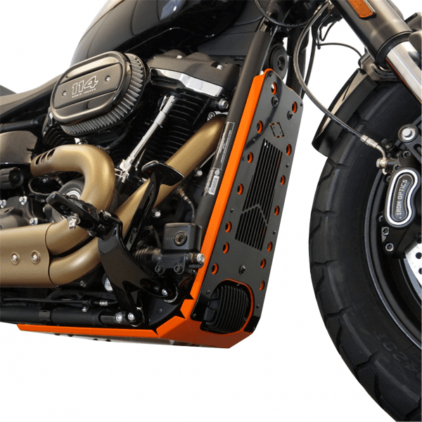 Motorschutz Unterfahrschutz Bugspoiler orange/schwarz für Harley Davidson Softail Modelle ab 2018