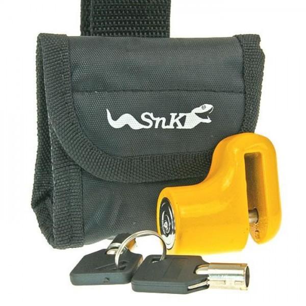 Bremsscheibenschloß | Mini gelb | 5,5 mm | mit Tasche