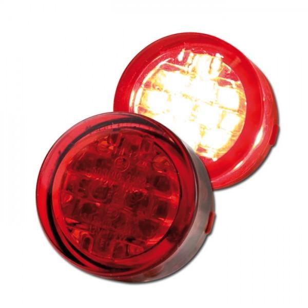 LED - Einbaurücklicht , rot, Maße: Ø = 20 x T 13 mm, E-geprüft