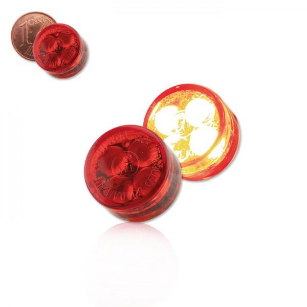 LED-Einbaurücklicht | Stück| Rot | Maße: D 16 x T 8,5 mm | E-geprüft