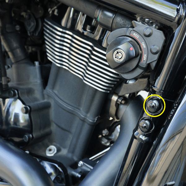 Abdeckkappen groß PVC Weich Set für Motorschrauben Harley Davidson V-Rod Modelle