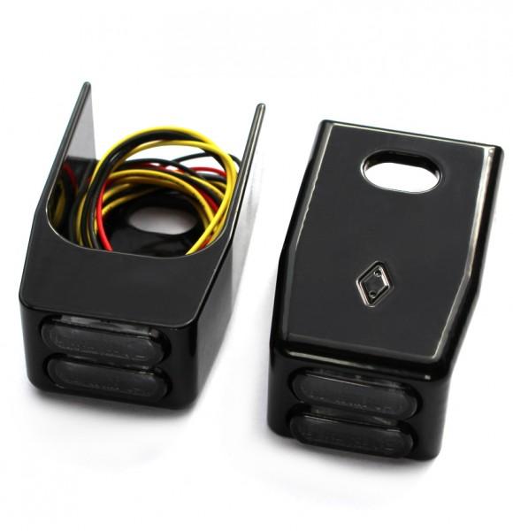 """""""IOMP"""" LED Blinker + Rücklicht + Bremslicht für Fender-Struts Typ 2 HD-Sportster XL883/1200 Modelle"""