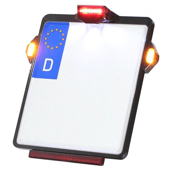 Kennzeichenplatte IOMP   Rücklicht   Kennzeichenbeleuchtung   TIG Blinker