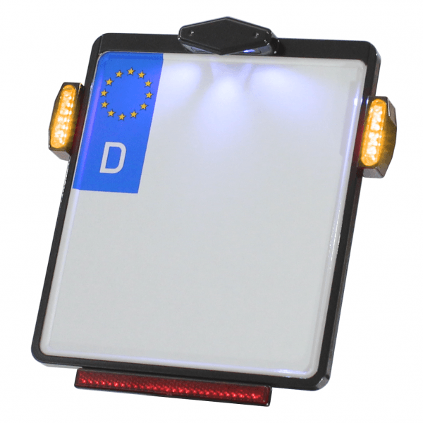 Kennzeichenplatte IOMP   Kennzeichenbeleuchtung   JAX Blinker