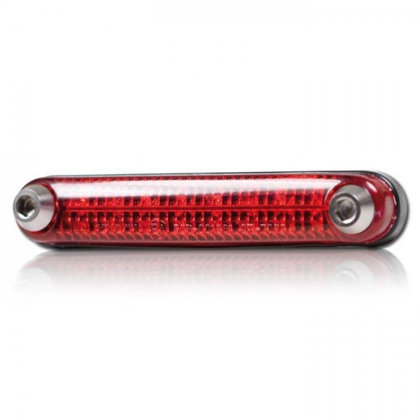 LED - Rücklicht, ohne KZB, biegsam, rot, Maße: B 105 x H 18 x T 19 mm, E-geprüft