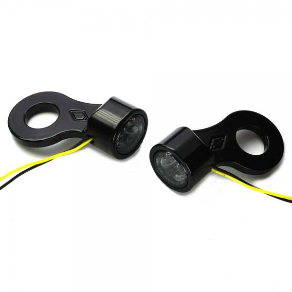 IOMP mini SMD Blinker mit Blinkerhalter für hinteren Stoßdämpfer Typ 2