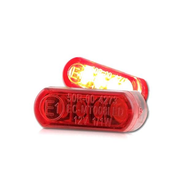 LED-Einbaurücklicht, rot, Maße: B 21,5 x H 8,5 x T 11,5 mm, E-geprüft
