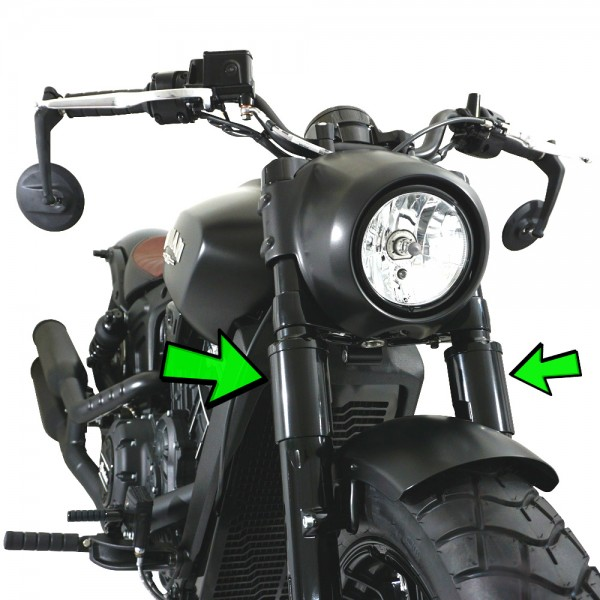 IRON OPTICS Gabel Cover Hülsen unten für Indian Scout Modelle