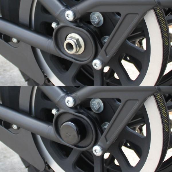 """""""IRON OPTICS"""" Heck Achsen Cover für Harley Davidson Softail Modelle ab 2018"""