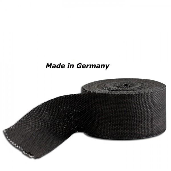 Hitzeschutzband Silent Sport Black, Maße: 50 mm x 1 mm x 10 m, Hitzebeständig bis 750°C