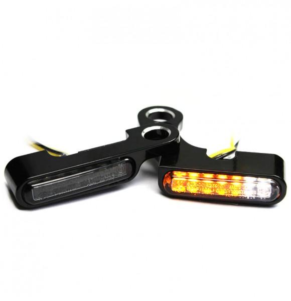 IOMP Lenkerarmaturen LED Blinker 2in1 / 40x8 / für HD Modelle