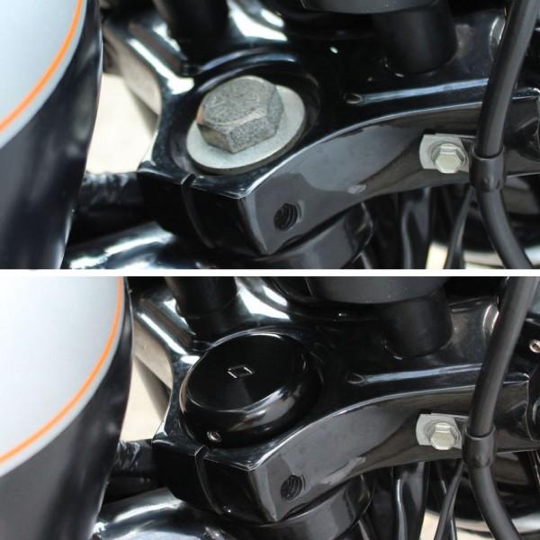 Lenkkopflager Cover Abdeckung für Harley Davidson Sportster Modelle bis Bj. 2015