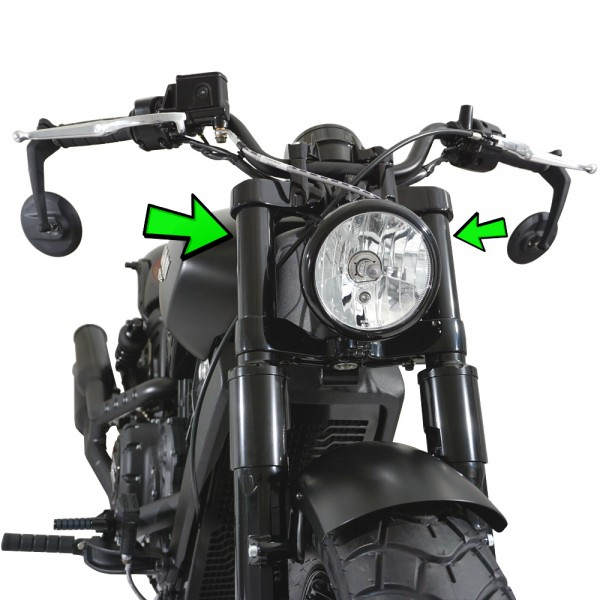 IRON OPTICS Gabel Cover Hülsen für Indian Scout & Scout Sixty & Scout 100th Anniversary Edition