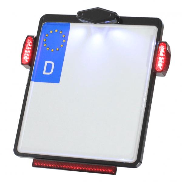 Kennzeichenplatte IOMP | Kennzeichenbeleuchtung | JAX Rücklicht