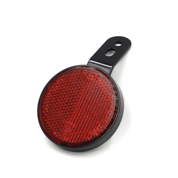 Reflektor - Rückstrahler mit Halter STK7 - rot - D60 - E-geprüft