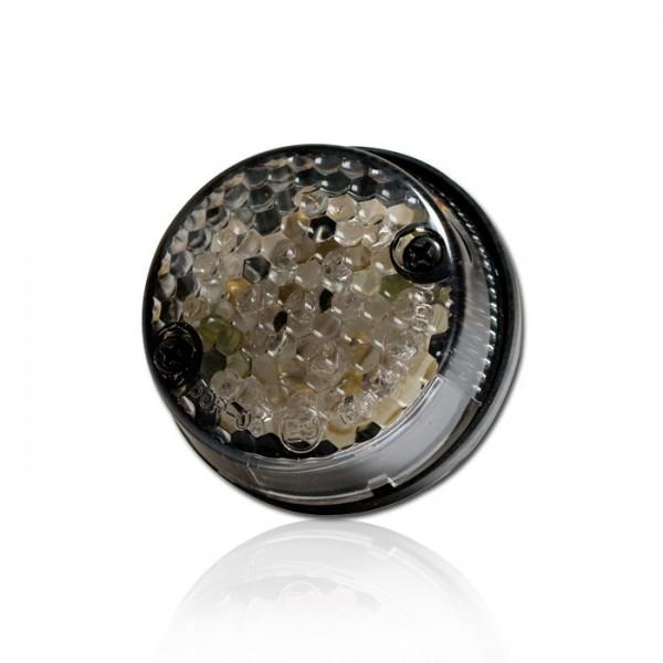 LED-Rücklicht mit KZB, getöntes Glas, E-geprüft, Ø 58 mm, H 25 mm, Bolzen M4, Abstand 40 mm