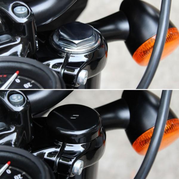 """IRON OPTICS"" Gabel Abdeckkappen für Harley Davidson Sportster Modelle ab 2016-"