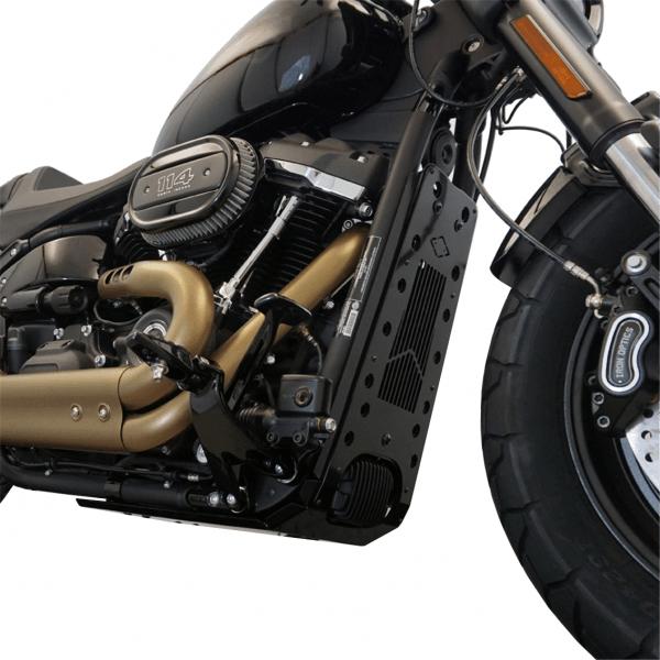 Motorschutz Unterfahrschutz Bugspoiler schwarz/schwarz für Harley Davidson Softail Modelle ab 2018