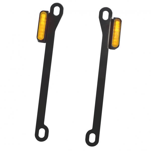 Kennzeichenhalter Streben mit LED Blinker - JAX
